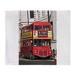 Vintage Red London Bus Throw Blanket