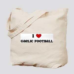 I Love Gaelic Football Tote Bag