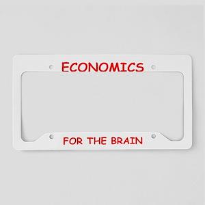 economics License Plate Holder
