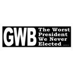 GWB Worst President (Bumper Sticker)