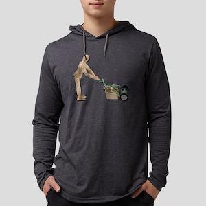 PushingLawnMower073011 Mens Hooded Shirt
