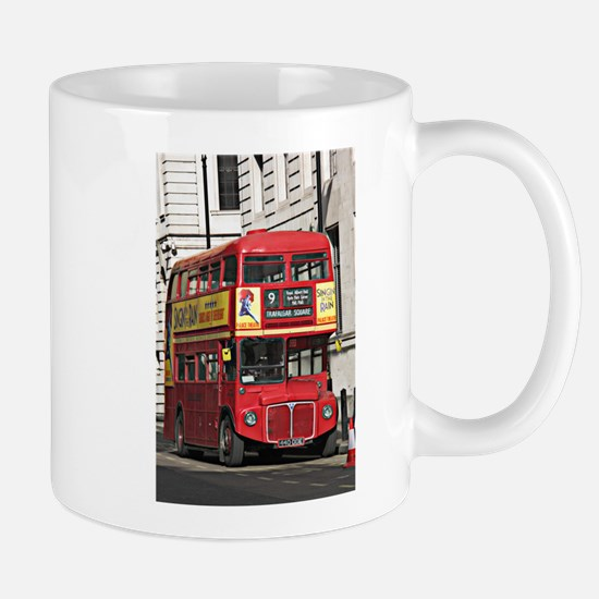 Vintage Red London Bus Mugs