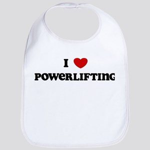 I Love Powerlifting Bib