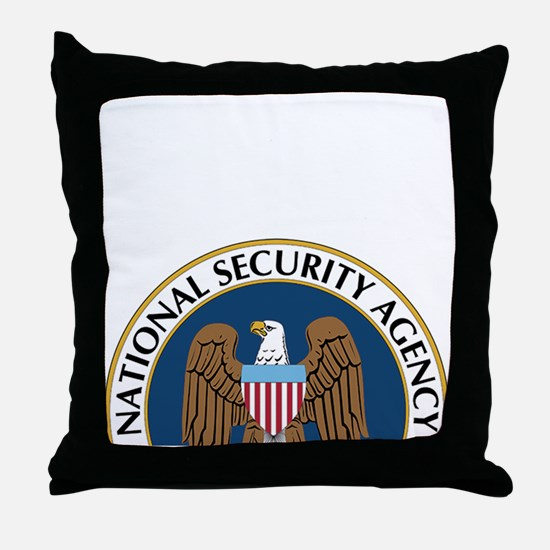 NSA Monitored Device Throw Pillow