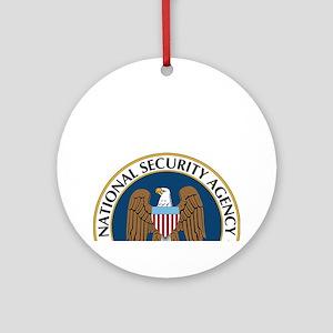 NSA Monitored Device Round Ornament