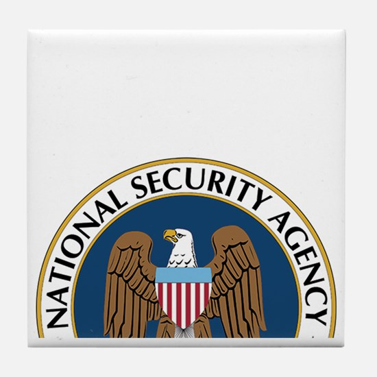 NSA Monitored Device Tile Coaster