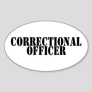 CORRECTIONAL OFFICER Oval Sticker