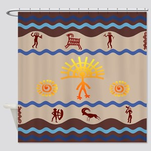 Spirit Path Rock Art Shower Curtain