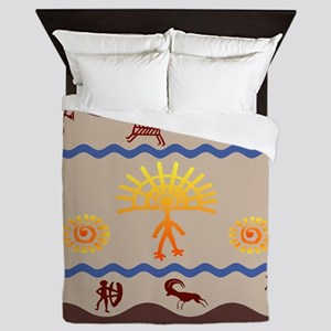Spirit Path Rock Art Queen Duvet