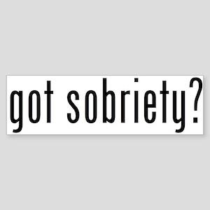 got sobriety? Bumper Sticker
