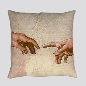 Michelangelo Creation of Adam Everyday Pillow