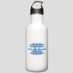 Over the River Cross Country Quote Water Bottle