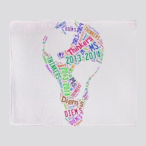 2013-2014 Thinker's Logo Throw Blanket