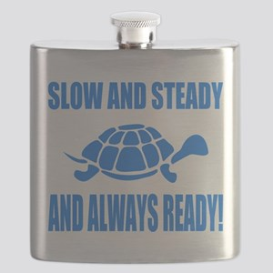 Slow and Steady Always Ready Running Flask