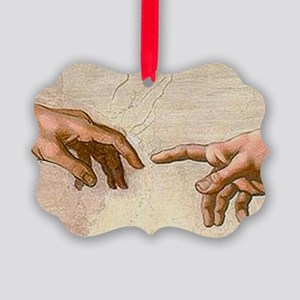 Michelangelo Creation of Adam Picture Ornament