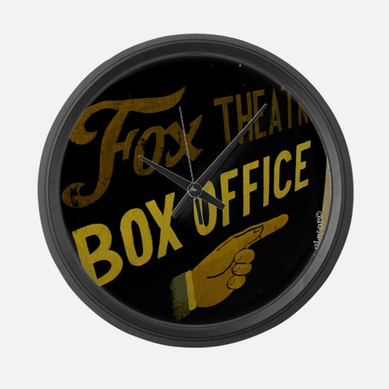Box Office This Way Large Wall Clock