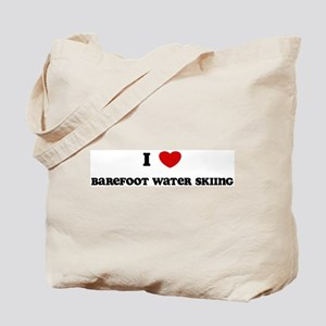 I Love Barefoot Water Skiing Tote Bag