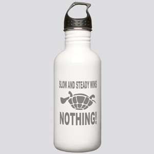 Slow and Steady Wins Nothing Running Water Bottle