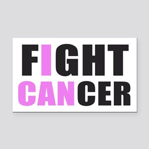 Fight Cancer Rectangle Car Magnet