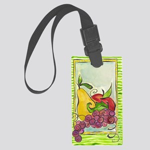 Green design with fruit Large Luggage Tag