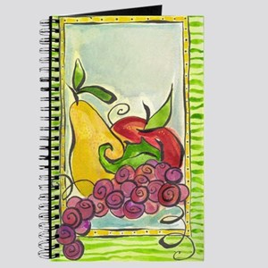 Green design with fruit Journal