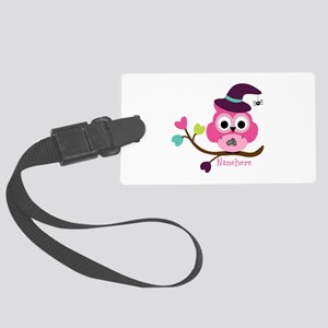 Personalized Wicked Witch Owl Large Luggage Tag