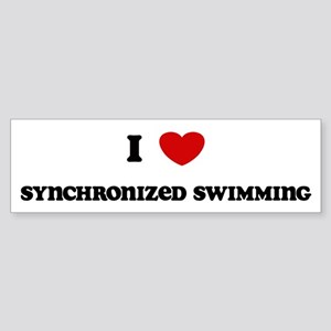 I Love Synchronized Swimming Bumper Sticker