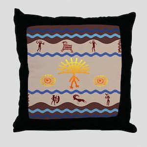 Spirit Path Rock Art Throw Pillow