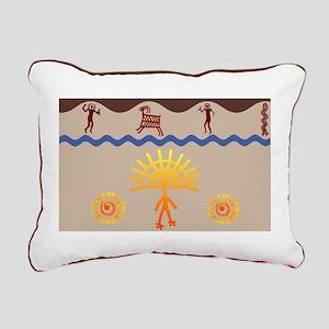 Spirit Path Rock Art Rectangular Canvas Pillow