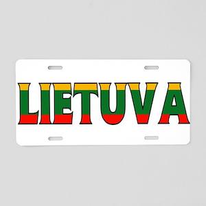 Lithuania Aluminum License Plate