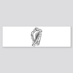 harp outline Bumper Sticker