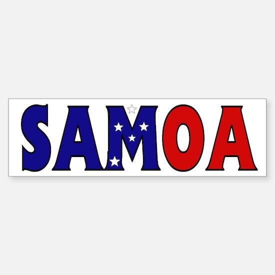 Samoa Bumper Bumper Bumper Sticker