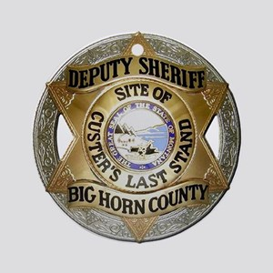 Big Horn County Sheriff Ornament (Round)