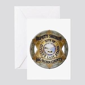 Big Horn County Sheriff Greeting Cards