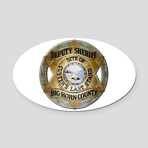 Big Horn County Sheriff Oval Car Magnet