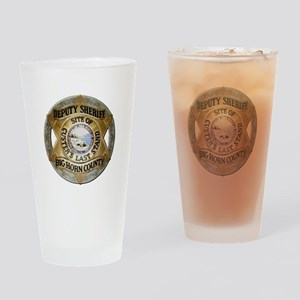 Big Horn County Sheriff Drinking Glass