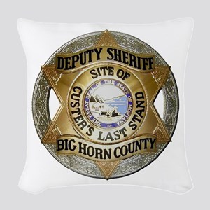 Big Horn County Sheriff Woven Throw Pillow