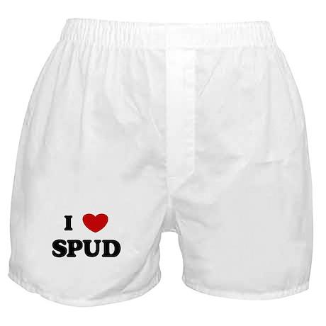 I Love Spud Boxer Shorts