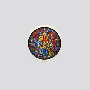 Stained Glass Style Nativity Mini Button