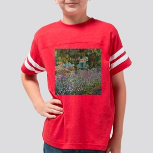 Irises In Monets Garden Youth Football Shirt