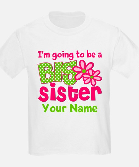 Big Sister To Be Pink Green T-Shirt