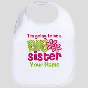 Big Sister To Be Pink Green Bib
