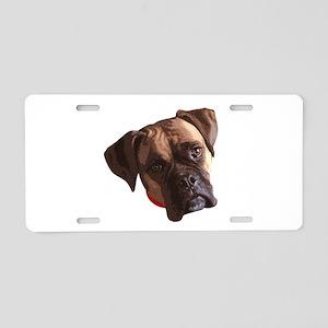 Boxer face 002 Aluminum License Plate