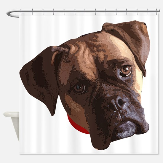 Boxer face 002 Shower Curtain