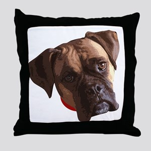 Boxer face 002 Throw Pillow