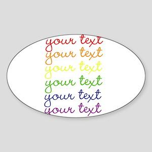 roygbiv cursive Sticker