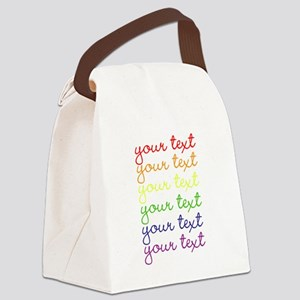 roygbiv cursive Canvas Lunch Bag