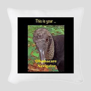 ObamaCare Navigator Woven Throw Pillow