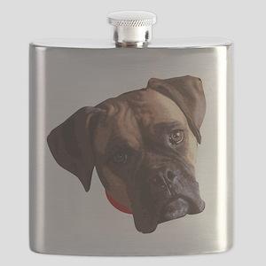 Boxer face 002 Flask