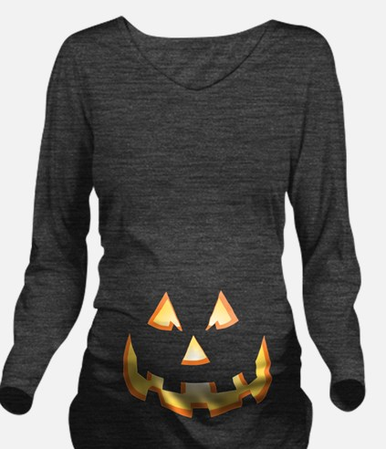 Jack-O'-Lantern Long Sleeve Maternity T-Shirt
